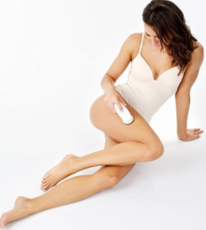 Picture of a model with Braun epilator